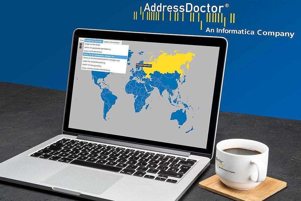 Adressdoctor Worldmap