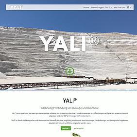 Startseite von Yalibims - Relaunch 2020